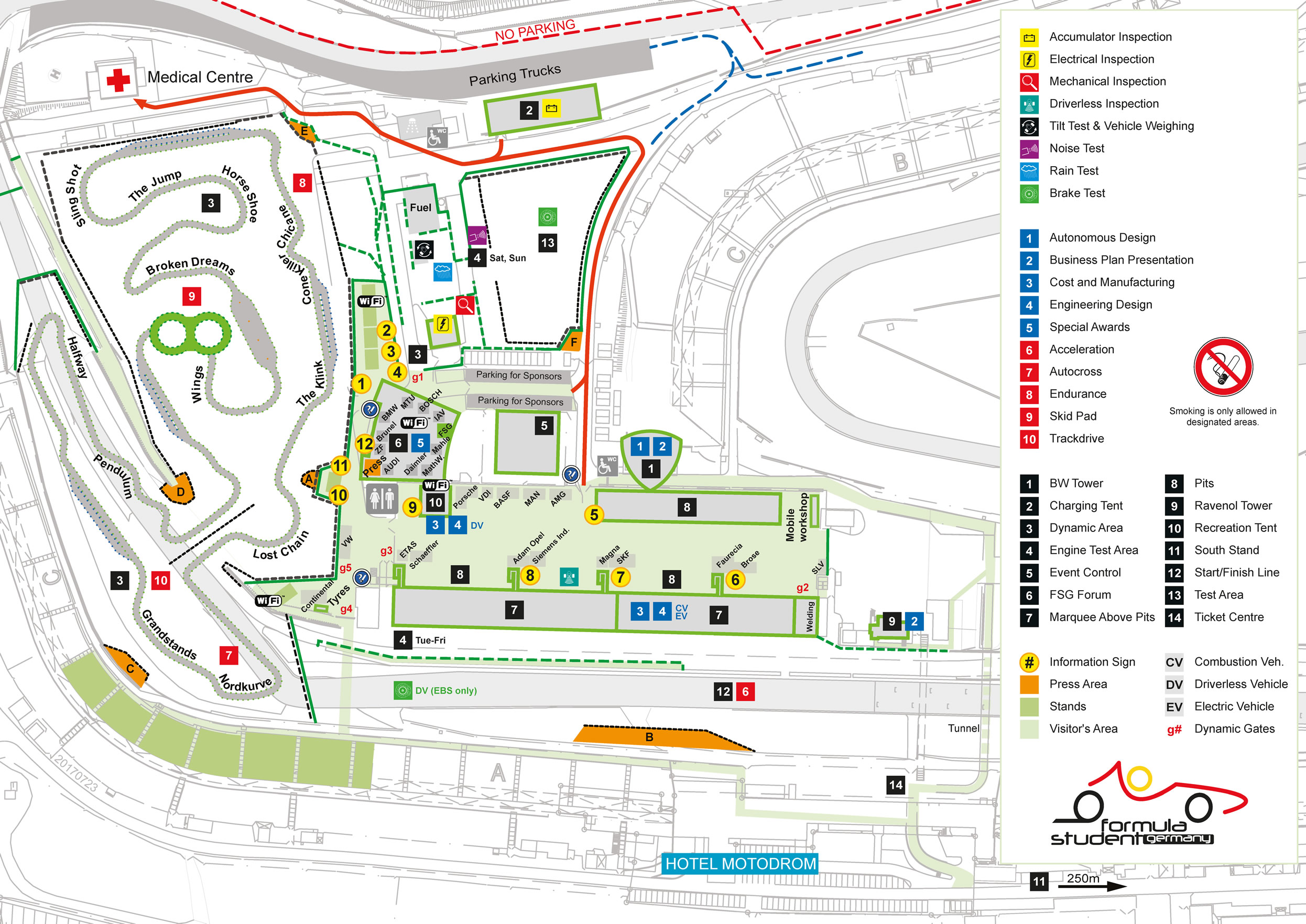 formula student germany map directions pits. Black Bedroom Furniture Sets. Home Design Ideas